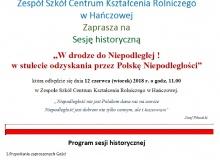 Zaproszenie Sesja Historyczna